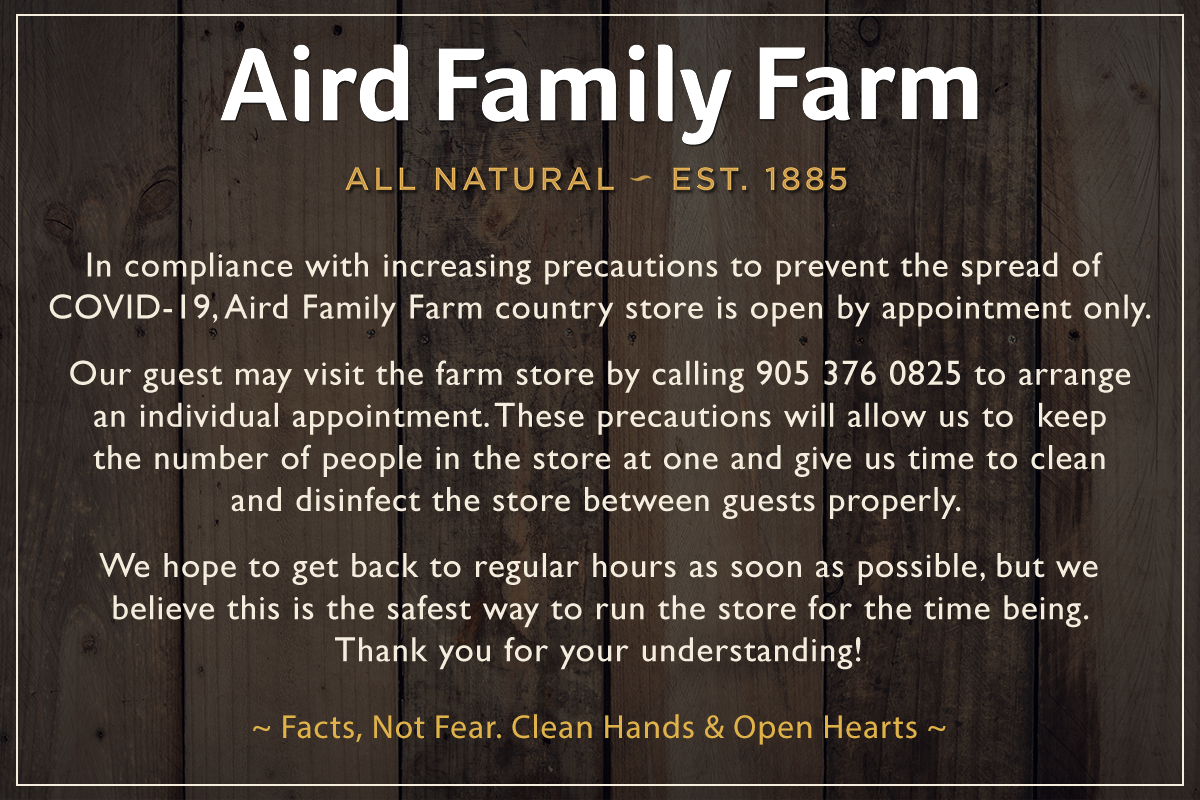 aird family farm covid-19 notice